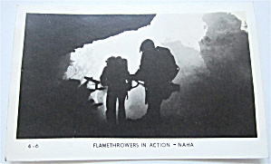 Flamethrowers In Action - Naha Postcard