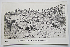 Captured Gun On Oroku Peninsula Postcard