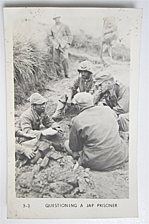 Questioning A Jap Prisoner Postcard  (Image1)