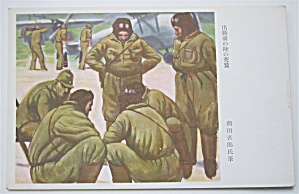 Men Huddled In A Circle Talking Postcard