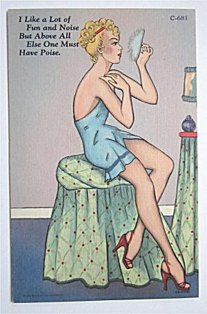 Woman Putting On Makeup Postcard  (Image1)