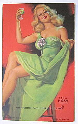The Doctor Said I Needed Glasses Postcard By Earl Moran (Image1)
