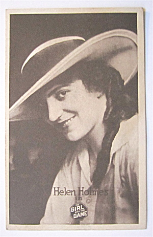 Helen Holmes (The Girl With The Game) Postcard