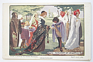 The Merchant Of Venice, Shakespeare Postcard