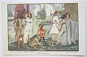 Midsummer Nights Dream, Shakespeare Postcard