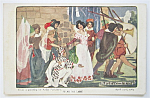 Twelfth Night, Shakespeare Postcard