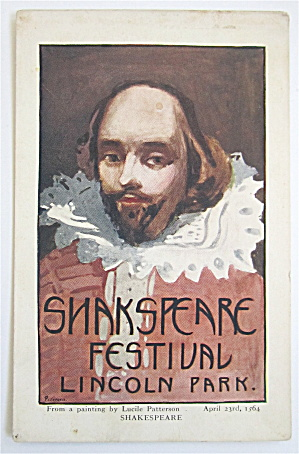 Shakespeare Festival, Lincoln Park Postcard
