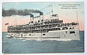 Steamship Theodore Roosevelt Postcard  (Image1)