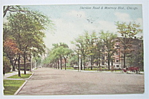 Sheridan Road & Montrose Blvd, Chicago Postcard  (Image1)