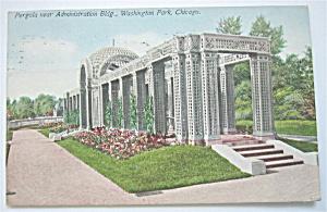 Pergola Near Administration Building, Chicago Postcard  (Image1)