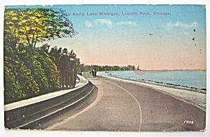 Along Lake Michigan, Lincoln Park, Chicago Postcard (Image1)