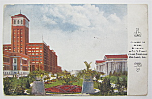 Glimpse Of Sears Roebuck & Co. Plant, Chicago Postcard  (Image1)