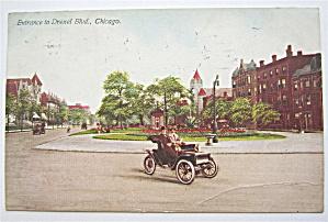 Entrance To Drexel Boulevard, Chicago Postcard (Image1)