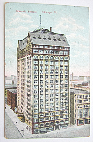 Masonic Temple, Chicago, Illinois Postcard  (Image1)