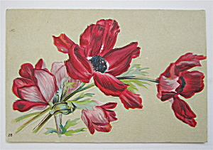 Red And Pink Flowers Postcard  (Image1)