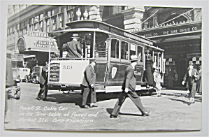 Powell St. Cable Car, Market St San Francisco Postcard (Image1)