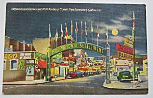 International Settlement, San Francisco, CA Postcard  (Image1)