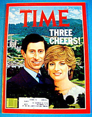 Time Magazine-august 3, 1981-charles & Diana