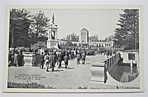 Memorial Museum, Golden Gate Park Postcard  (Image1)