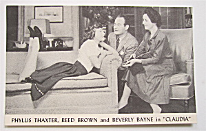 Phyllis Thaxter, Reed Brown & Beverly Bayne Postcard  (Image1)