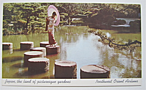 Japan, The Land Of Picturesque Gardens Postcard  (Image1)
