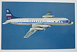 The Turboprop Airliner IIyushin 18 Postcard  (Image1)