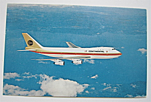 Continental 747 Airplane Postcard  (Image1)