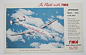 TWA Trans World Airlines Jetstream Postcard (Image1)