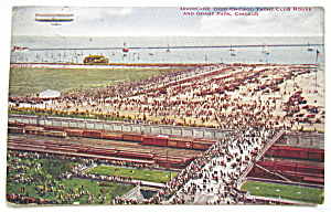 Aeroplane Over Chicago Yacht Club House Postcard  (Image1)
