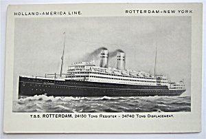 T. S. S. Rotterdam Postcard  (Image1)