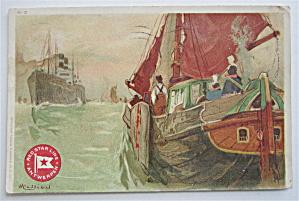 Red Star Line Antwerpen Postcard  (Image1)
