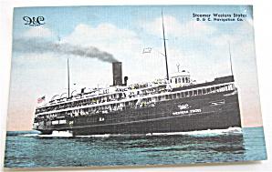 Steamer Western States Postcard  (Image1)