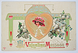 A Valentine Message Postcard  (Image1)