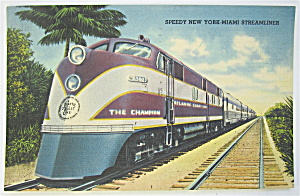 Speedy New York Miami Steamliner Postcard  (Image1)