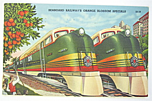 Seaboard Railways Orange Blossom Specials Postcard  (Image1)