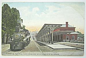 Frankfort Ky. Union Railway Station Postcard  (Image1)