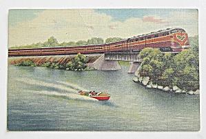 Gulf, Mobile & Ohio Streamliner Postcard (Image1)