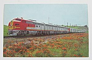 Santa Fe Super Chief Streamliner In California Postcard (Image1)