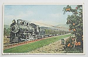 Santa Fe Train Entering Southern California Postcard  (Image1)