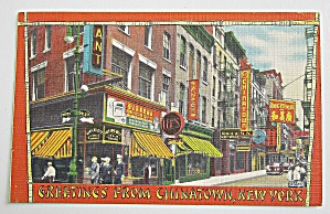 View Of Chinatown, New York