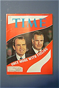 Time Magazine -august 28, 1972- Once More With Feeling