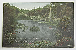 View In The Rock Quarry, Golden Gate Park, California (Image1)