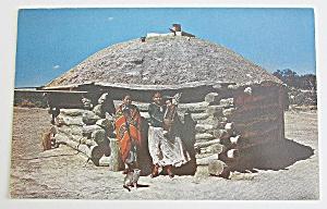 Navajo Indians & Their Hogan Postcard (Image1)
