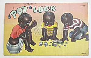 Little Boys Shooting Dice Postcard  (Image1)