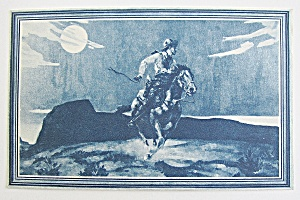 Man Riding A Horse Postcard