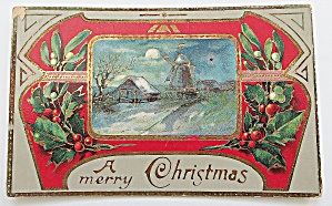 Merry Christmas WIth House & Windmill (Image1)