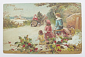 Santa Claus Driving & Delivering Gifts (Image1)