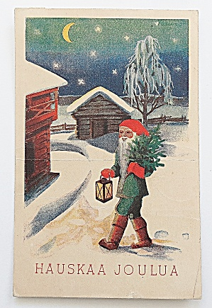 Man holding Christmas Tree & Lantern (Image1)