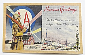 Seasons Greetings With Soldier By Church (Image1)