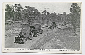 3 - Inch Anti-aircraft Guns On The Move